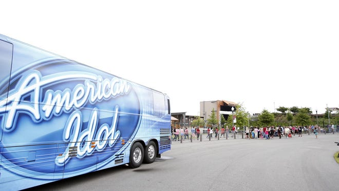 "Eager vocalists  wait in line to audition for ""American Idol"" at the Tuscaloosa Amphitheater Wednesday, Aug. 21, 2013. For 2020, all ""AI"" auditions will be conducted via Zoom."