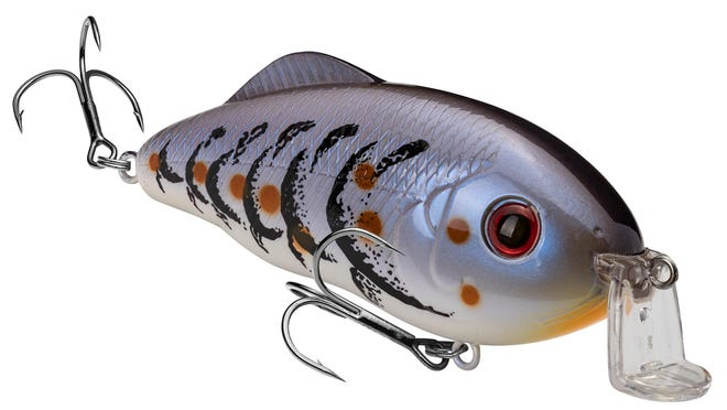 The new Strike King Hybrid Hunter crankbait features an L-shaped lip that helps the bait run freely through grass without getting caught up.