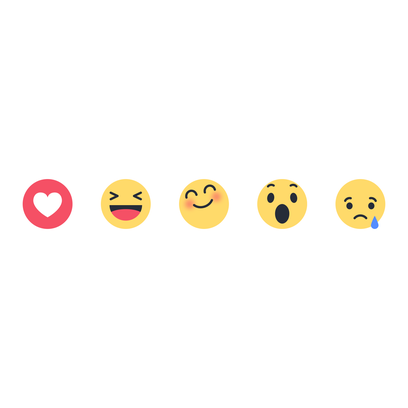 "Facebook's new ""Reactions"" buttons let you express"