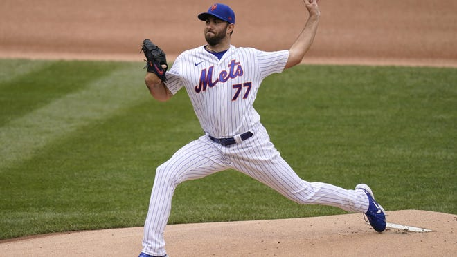 New York Mets pitcher David Peterson allowed only the unearned run over five innings and gave up just one hit. He walked two and struck out three in running his record to 3-1.