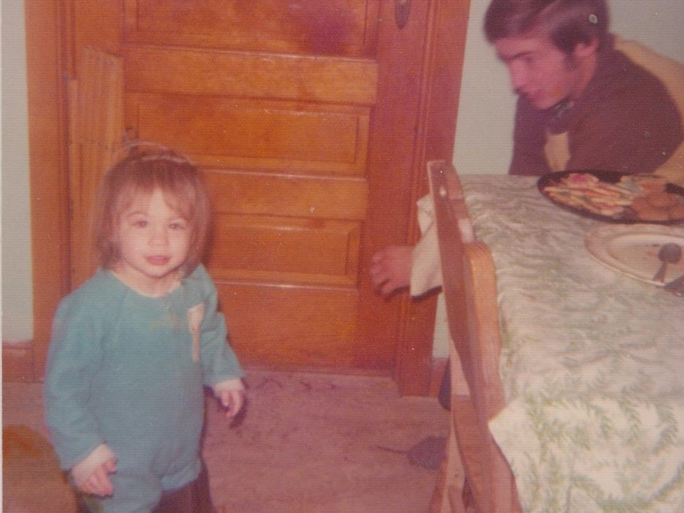 A photo of Heidi Wolfe as a toddler. Year unknown.