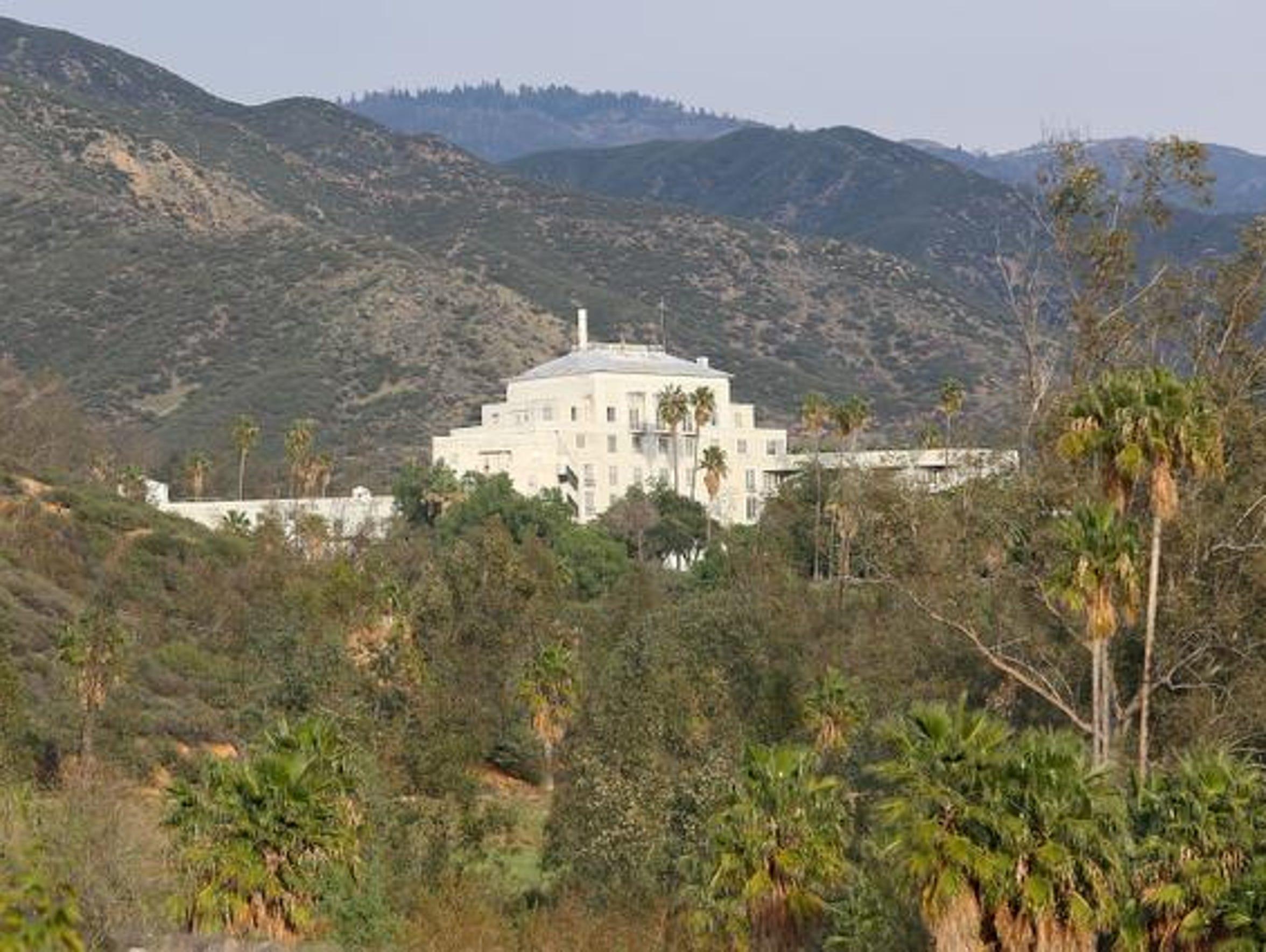 The historic Arrowhead Hot Springs Hotel near San Bernadino.