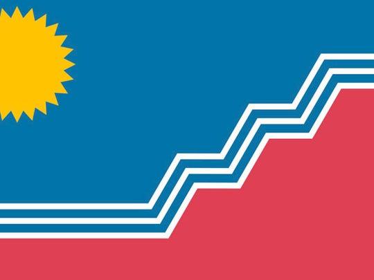 The unofficial Sioux Falls city flag, as chosen through