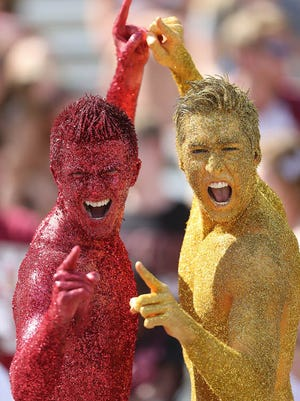 The Garnet and Gold Boys put on their war paint for Saturday's game Jameis Winston led the Garnet team to a 31-14 win in the Spring Game on Saturday afternoon, April 12, 2014.