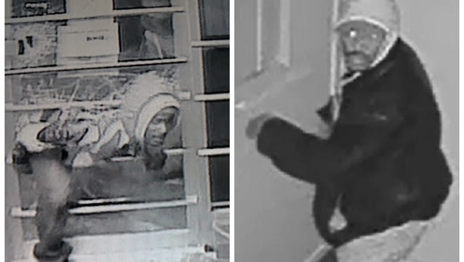 Lansing police released surveillance images of two suspects believed to be responsible for a string a medical marijuana dispensary burglaries.