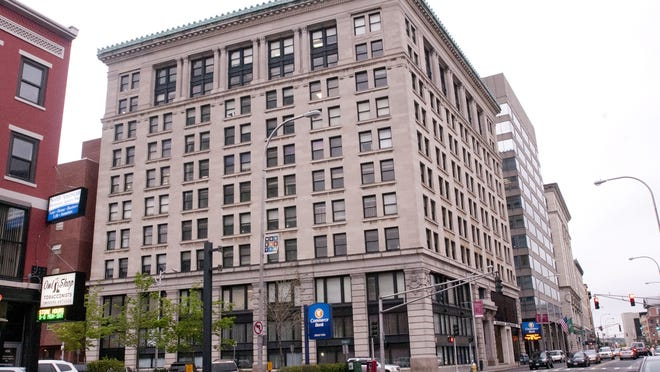 The Commerce Building, 340 Main St., Worcester, has been purchased by a New York-based developer, according to the Worcester city manager. Correction: An earlier photo showed the wrong building.