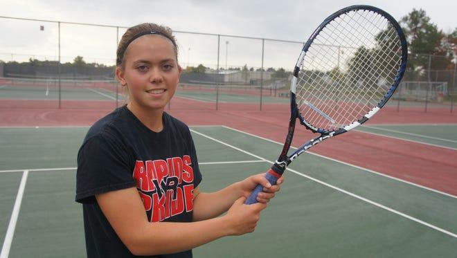 Wisconsin Rapids junior McKenzie Wentland plays No. 1 and 2 singles for the Raiders girls tennis team.