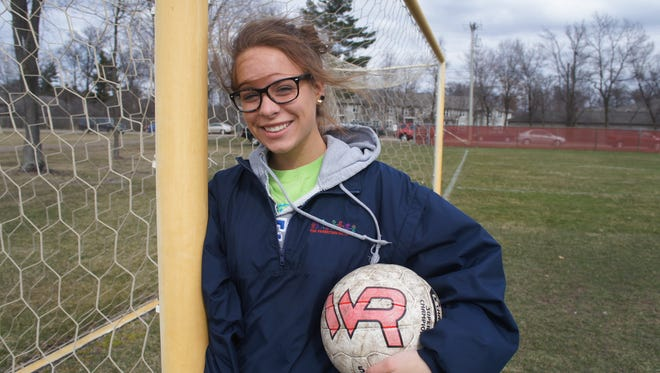 Wisconsin Rapids senior Aubrey Iwinksi plays sweeper for the Raiders soccer team, which won the Rapids Invite last Saturday.