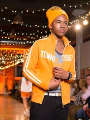 During Knoxville Fashion Week, a model wears Vol apparel