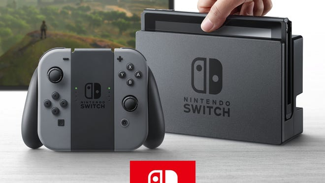 The Nintendo Switch video game console, which will launch next March.
