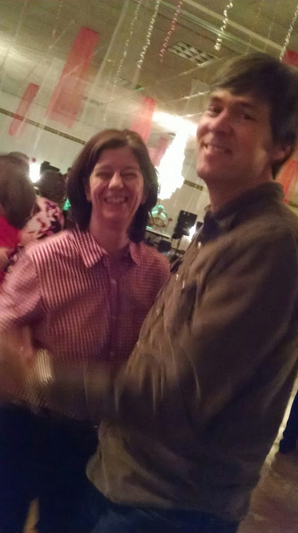 Saturday night polka-ing with Jen and Mark.