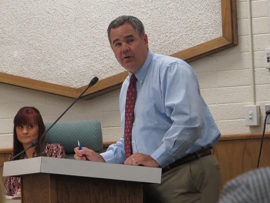 St. George Mayor Jon Pike speaks during a presentation