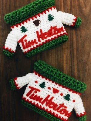 Ugly sweater koozies are available at select Tim Hortons locations.