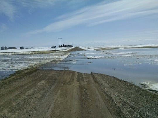 Flooding from snowmelt from agriculture feilds is impacting