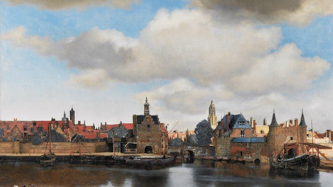 "Johannes Vermeer's 1696 masterpiece, ""View of Delft."""