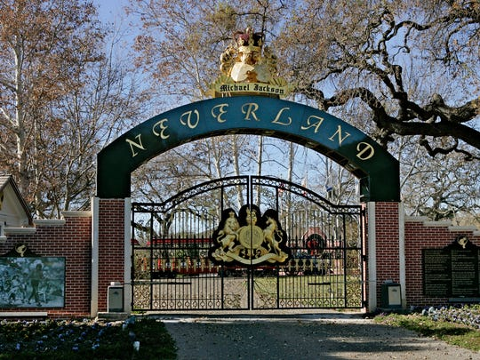 The Neverland Ranch gates in December 2004.