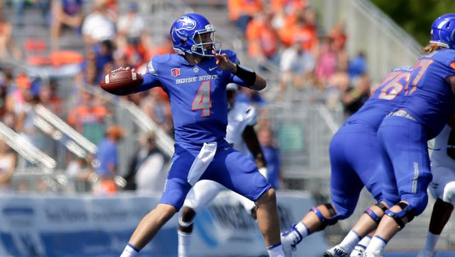 Brett Rypien, whose uncle Mark is one of the best quarterbacks in Washington State University history, leads Boise State against the Cougars on Saturday.