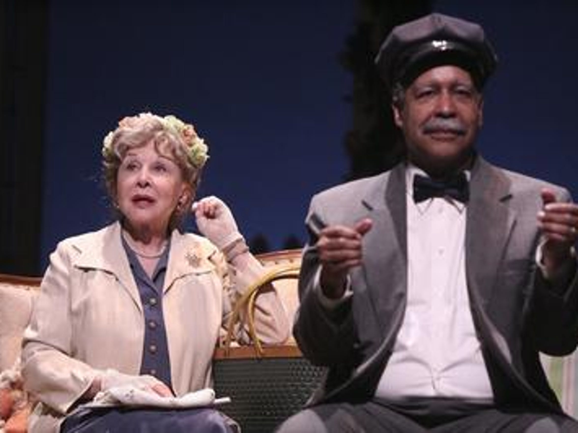 "Michael Learned, left, played the lead role in Totem Pole's 2017 production of ""Driving Miss Daisy."""