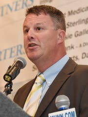 Dutchess County Comptroller Jim Coughlan speaks in