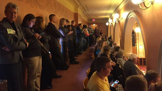 Teachers fill the South Dakota House on Thursday for what they hope will be a 'yes' vote on HB 1182.
