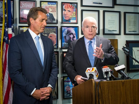 Flake McCain VA press conference