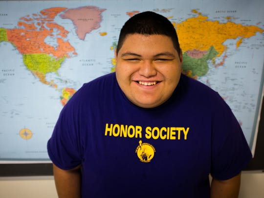 High school sophomore William Horner, 16, stands in