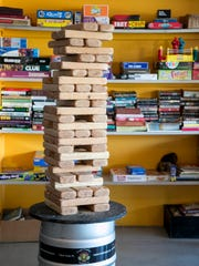 Cape Coral Brewing Company has giant Jenga, giant Connect Four, books, foosball and corn hole to entertain patrons.
