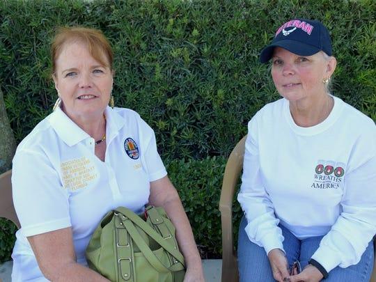 Wreaths Across America Linda D'agostino and Diane Almdovar.