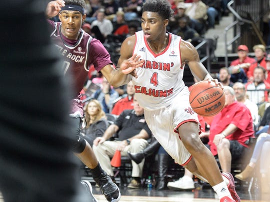 UL's Frank Bartley IV scored 20 points in Saturday's win over Little Rock.