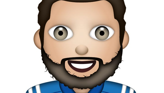 Andrew Luck has  a friendly smile in his emoji.