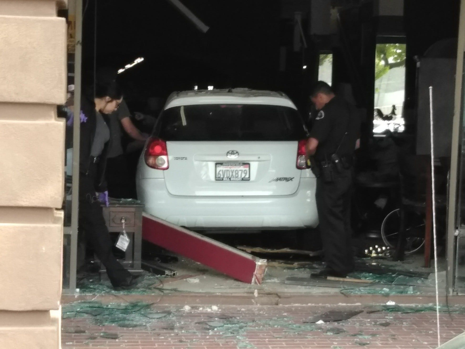 A Driver Went Through The Entrance Of Serranu0027s Furniture