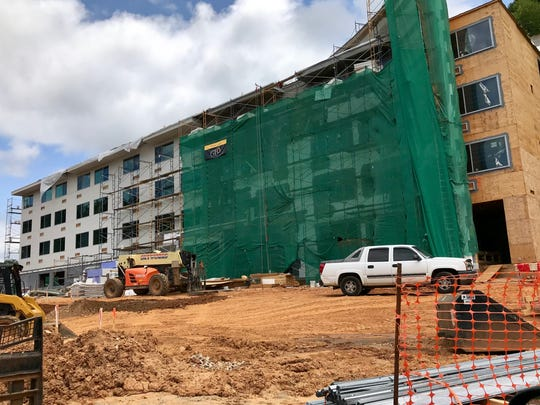 The new Glo Hotel in Haw Creek will have unusual lighting, but it will meet city of Asheville requirements.