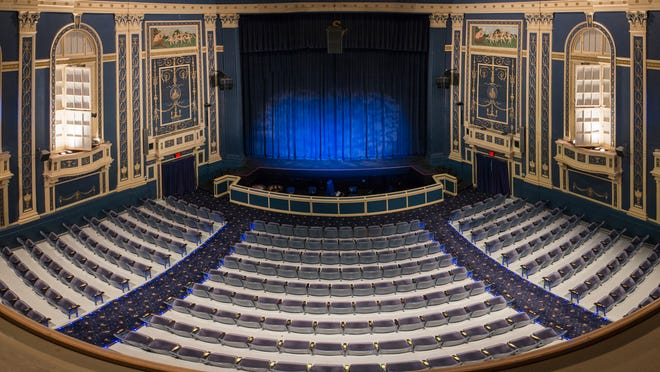 Stagecrafters makes their home at the historic Baldwin Theatre in downtown Royal Oak. Pictured is one of two stages in the Baldwin. The main auditorium, which seats 372 people, is where the Main Stage series is presented. A contemporary black-box studio theatre, 2nd Stage, is located in the former balcony of the Baldwin.