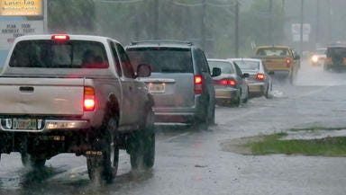 The Pensacola area is under a flash-flood watch through Friday afternoon.