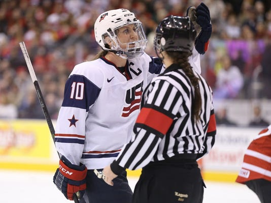 USP HOCKEY: WOMEN-USA AT CANADA S HKO CAN ON