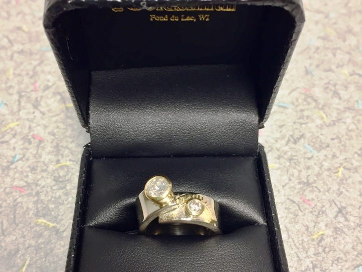This Goldsmith-donated, custom-made ring valued at