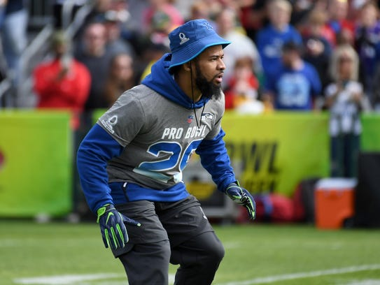 Earl Thomas practices for the Pro Bowl this week in