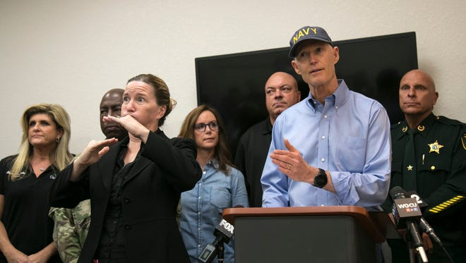 Governor Rick Scott talks about new mandatory evacuations issued and the importance of evacuating because of risk from wind and storm surge. Scott was speaking at the Lee County Emergency Operations Center in Fort Myers Friday afternoon.