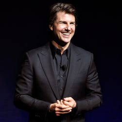 Tom Cruise appeared at CinemaCon on April 21.