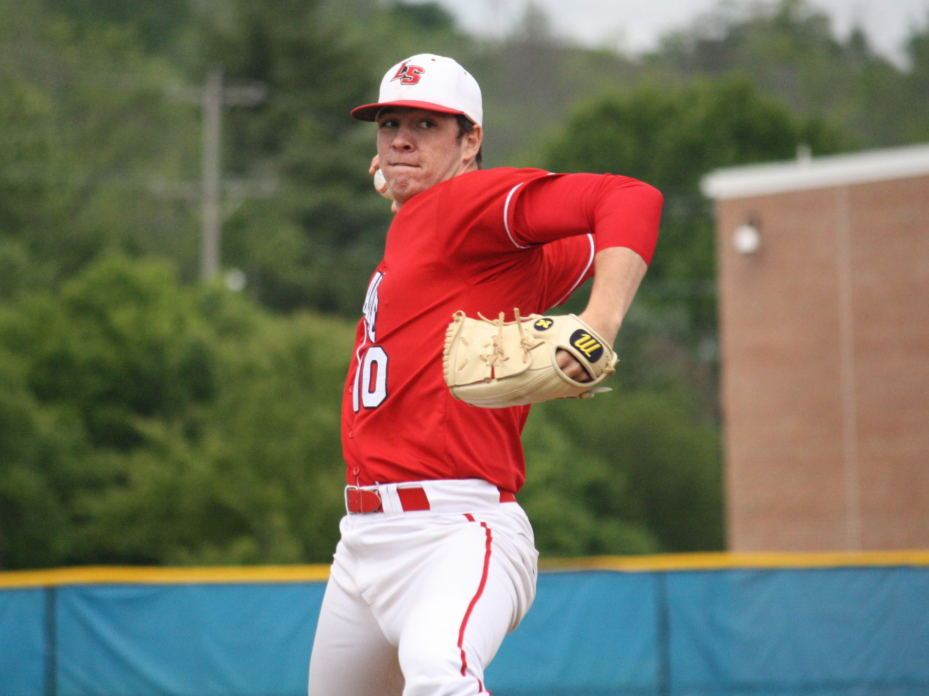 La Salle High School senior pitcher Nick Ernst threw a complete-game shutout in a 1-0 win over Elder in a Division I sectional final at Hamilton on May 21.