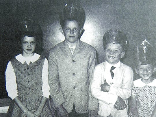 Valentine royalty from 1960 at Pilgrim's Rest include (from left): Queen Mina Smith, King Jimmy Franks, Prince Joey Franks and Princess Fay Holden.