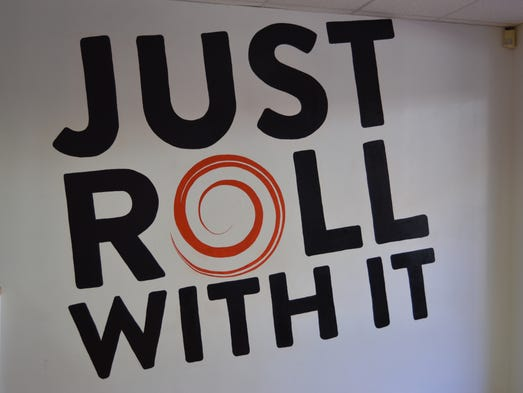 """Billig says, """"it's all in the roll,"""" which are each"""