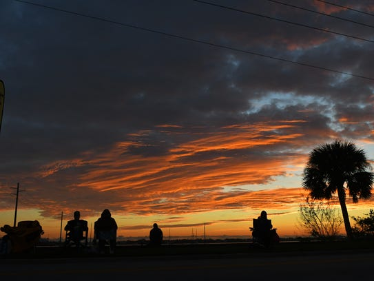 Runners may their way through the Space Coast Marathon course in Cocoa.