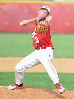 Logan Fisher pitches during his time at Loudonville High School. He'll continue his college career at Tiffin University after his former school, Urbana University, closed at the end of the 2019-20 school year.