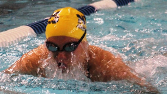 Madeleine Vonderhaar had another impressive day in the 100 breaststroke.