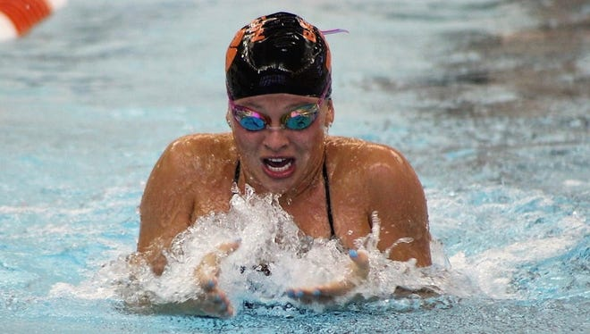 Brighton's Julianne Libler won four events and set two pool records in a victory over Northville.