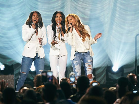 Singers Michelle Williams, Kelly Rowland and Beyoncé
