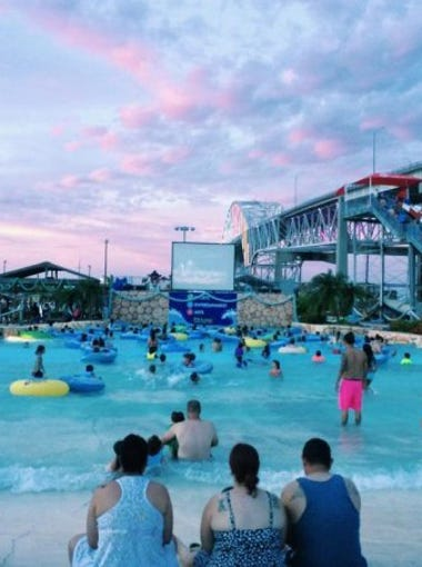 Hurricane Alley Waterpark hosts Dive-In Movies from 5-10 p.m. Tuesdays.