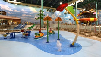 The Cub Paw Pool is a zero-depth entry pool for small children at the Great Wolf Lodge in Gurnee, Illinois.