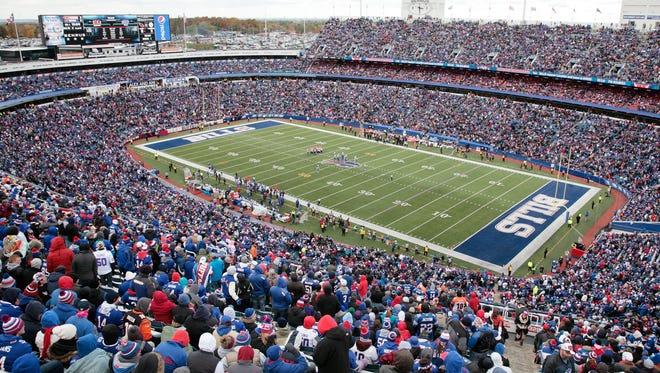 A file photo of Ralph Wilson Stadium.